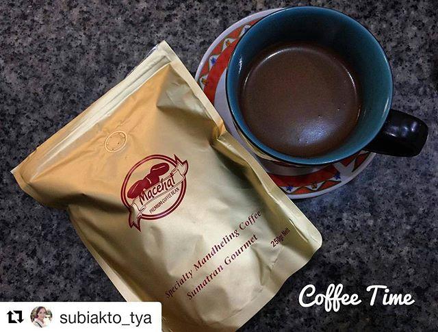 #Repost @subiakto_tya (@get_repost)・・・Slurp @macehatcoffee .. #coffee #sumatra #sumatrangourmet #yummy ️️️️️️
